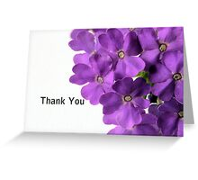 Purple Flower Thank You Greeting Card
