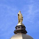 The Golden Dome and Statue of Mary by Marie Sharp