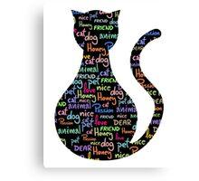 Cat words Canvas Print