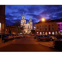 Church of the Holy Cross early evening - Warsaw, Poland Photographic Print