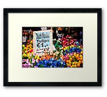 Dutch Wooden Tulips Framed Print