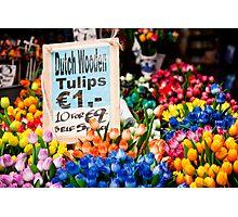Dutch Wooden Tulips Photographic Print