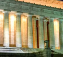 Lincoln Monument in Washington DC at Night photo Sticker