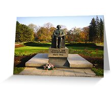 Monument of Ignacy Jan Paderewski - Warsaw, Poland Greeting Card