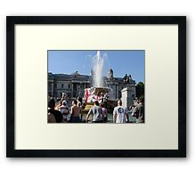 Protest in London Framed Print