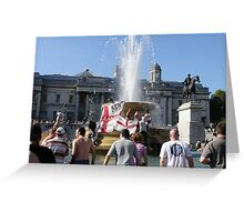 Protest in London Greeting Card