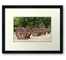 Quezon Memorial Circle benches 29 Framed Print