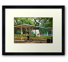 Quezon Memorial Circle bicycle station 31 Framed Print