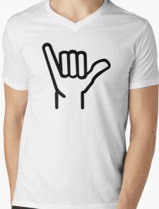 Surfing hand Mens V-Neck T-Shirt