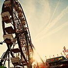 Ferris Wheel - Summer Sunset Carnival Photograph by ameliakayphotog