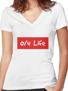 0/4 1D Women's Fitted V-Neck T-Shirt
