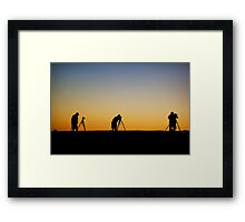 Men and Their Toys Framed Print