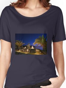 Mermaid illuminated at dusk, in Syros Greece Women's Relaxed Fit T-Shirt