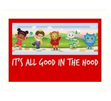 Daniel Tiger in white Art Print