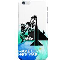 Make Love Not War Plane iPhone Case/Skin