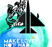Make Love Not War Plane by AnastasiaNensy
