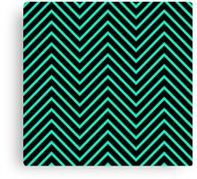 Black Green Turquoise  Canvas Print