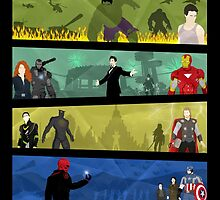 Marvel Cinematic Universe - Phase One by MrSaxon