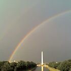 Double Rainbow over Washington DC, USA by hcorrigan