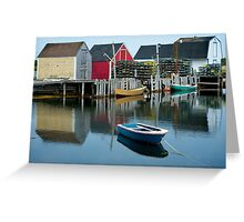 Blue Rocks Nova Scotia Canada Greeting Card
