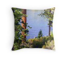 """Tahoe Blues"" Throw Pillow"