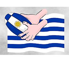 Uruguay Rugby Flag Photographic Print