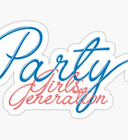 SNSD GG Girls' Generation - PARTY 2 Sticker