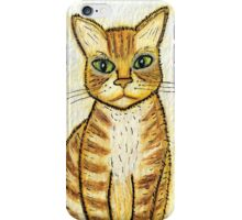 I Brought  You a Present - Watercolor & Ink Cat iPhone Case/Skin