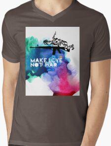 Make Love Not War M16 Mens V-Neck T-Shirt