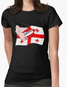 Rugby Georgia Flag Womens Fitted T-Shirt