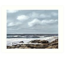 Moody Sea Art Print