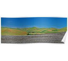 Walla Walla Wheat Field Mounds Poster