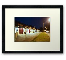 Quiet night at the hotel Framed Print