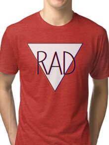 3D effect 'RAD'  Tri-blend T-Shirt
