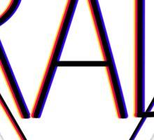 3D effect 'RAD'  Sticker