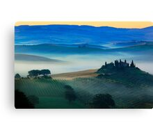 Val d'Orcia Blues Canvas Print