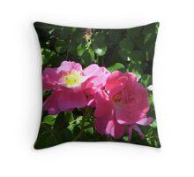 a wilting Pink Rose Throw Pillow