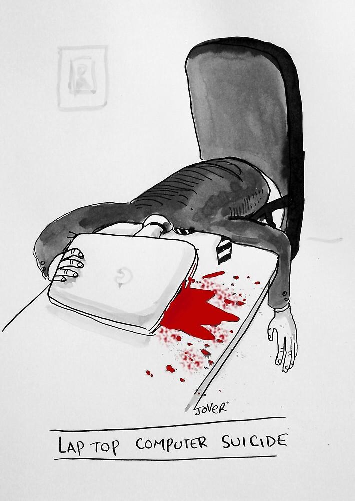 laptop suicide by Loui  Jover