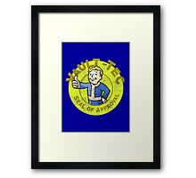 Vault-Tec Seal of Approval - Deteriorated  Framed Print