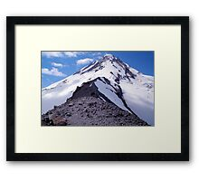 I think I can touch the top of Mt Hood Framed Print
