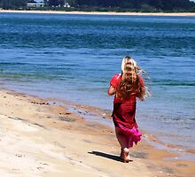 Walking along the beach by Janette Anderson