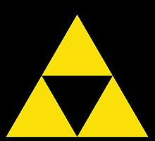 Gold Zelda triforce 3 by AndrewRyan1912