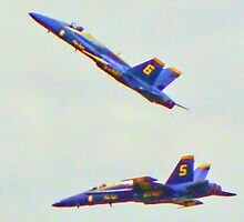 Angels 5 & 6 - Blue Angels Arctic Thunder 2010 by copperhead