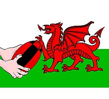 Wales Rugby Flag Photographic Print