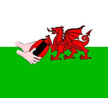 Wales Rugby Flag by piedaydesigns