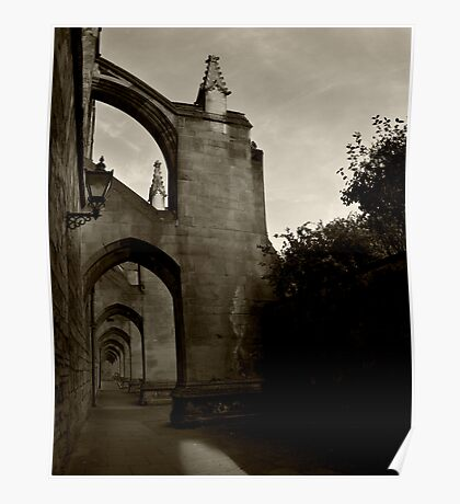 Arches of Winchester Cathedral  Poster