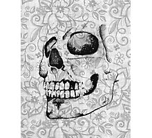Floral Skull -Side Photographic Print