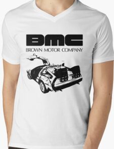 Brown Motor Company II Mens V-Neck T-Shirt