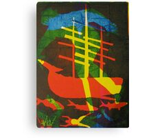 The Pequod #2 (from Meditations on Moby Dick) Canvas Print
