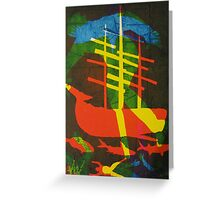 The Pequod #2 (from Meditations on Moby Dick) Greeting Card